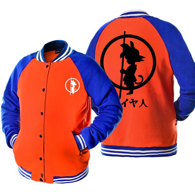 Dragon Ball Z Baseball Son Goku Baseball Jacket Hoodie