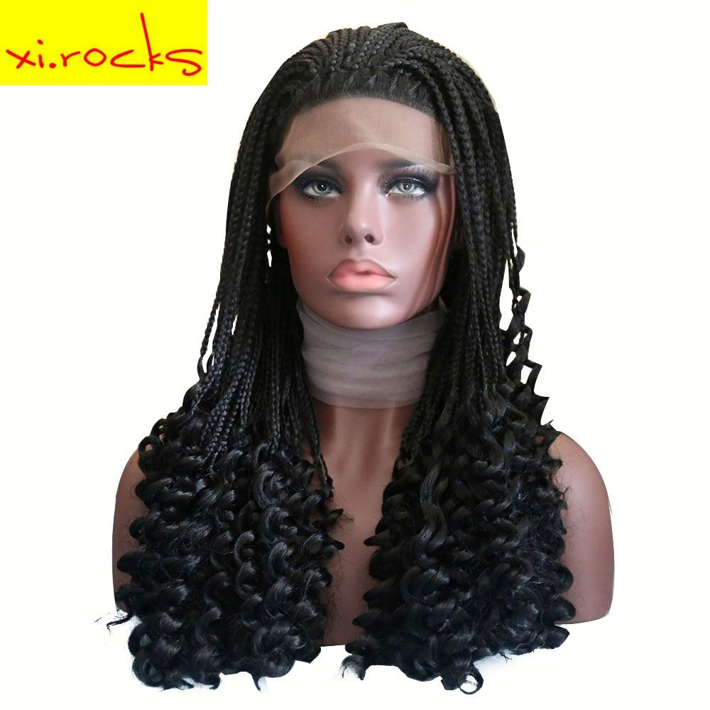 Свободная волна Синтетические волосы на кружеве синтетические парики волос для Для женщин бразильский перед lace парик с косами длинные черн
