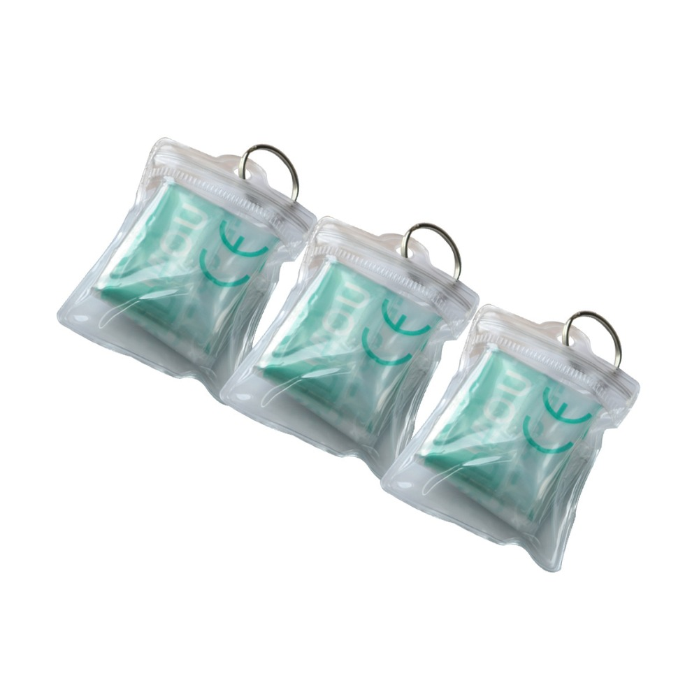 Health Care 300Pcs/Pack CPR Resuscitator Keychain Mask Key Ring Face Shield Emergency Rescue Kit With Transparent Pouch