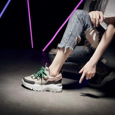 Semelles Nouvelle 2018 Épaisses À Vieilles Été Sauvage Harajuku Version De Chaussures Beige Coréenne noir Augmentation aqz5wqR