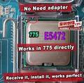 Intel xeon e5472 3.0 ghz/12 m/1600 mhz/lga775 core 2 quad q9550 cpu igual a cpu, funciona em lga775 mainboard não precisa de adaptador