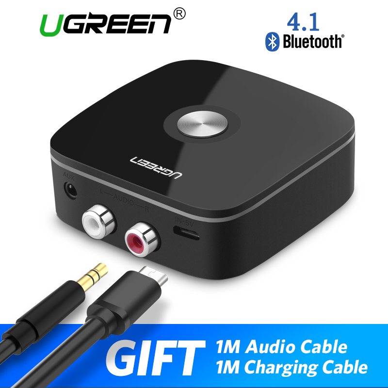 Ugreen Bluetooth Receiver 4.1 2RCA 3.5mm Jack Aux Audio Receiver Wireless Adapter Music for Headphone Car Bluetooth Receiver