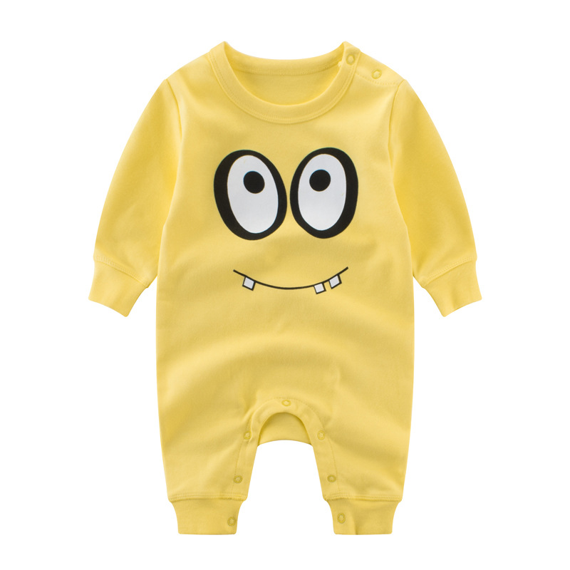 2017 Children's Clothing Pajamas Newborn baby rompers 3m baby cotton long-sleeved overalls new Boys Girls Autumn bebes clothes baby rompers cotton long sleeve 0 24m baby clothing for newborn baby captain clothes boys clothes ropa bebes jumpsuit custume