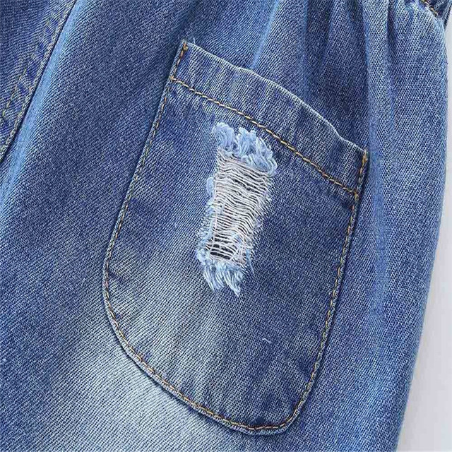 casual toddler kids baby girls and boys hole jeans denim pants trousers clothes fashion pants for kids conjunto infantil 40ja15