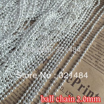 silver plated ball link chain 2mm ball chains findings 100m in bulk accessories for jewelry making supplies