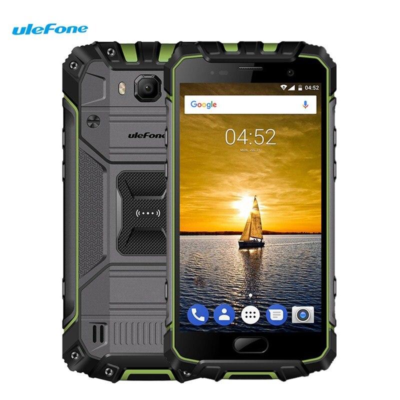 Ulefone Armor 2 4G Smartphone Android 7.0 5.0 pouces Helio P25 Octa Core 2.6 GHz 6 GB 64 GB IP68 étanche NFC 16.0MP téléphones portables