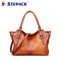 2016 New Style Leisure Ladies Women Genuine Leather Wing Bag Rivet Women Hangbag Gift Bag Tote