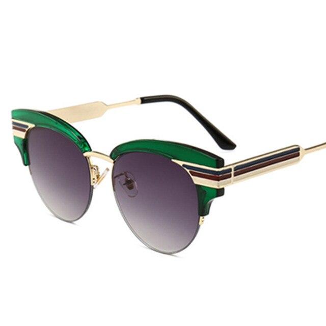 HBK gafas de sol de ojo de gato Semi-sin montura marco grande Vintage Retro d7631abdf606