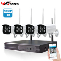 Wetrans video surveillance kit cctv system camera set home security camera system wireless 4CH Outdoor kit nvr wifi inalambrico