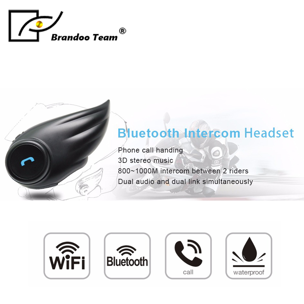 Casque bluetooth moto interphone casque moto écouteur casque haut-parleur mains libres musique pour Smartphone