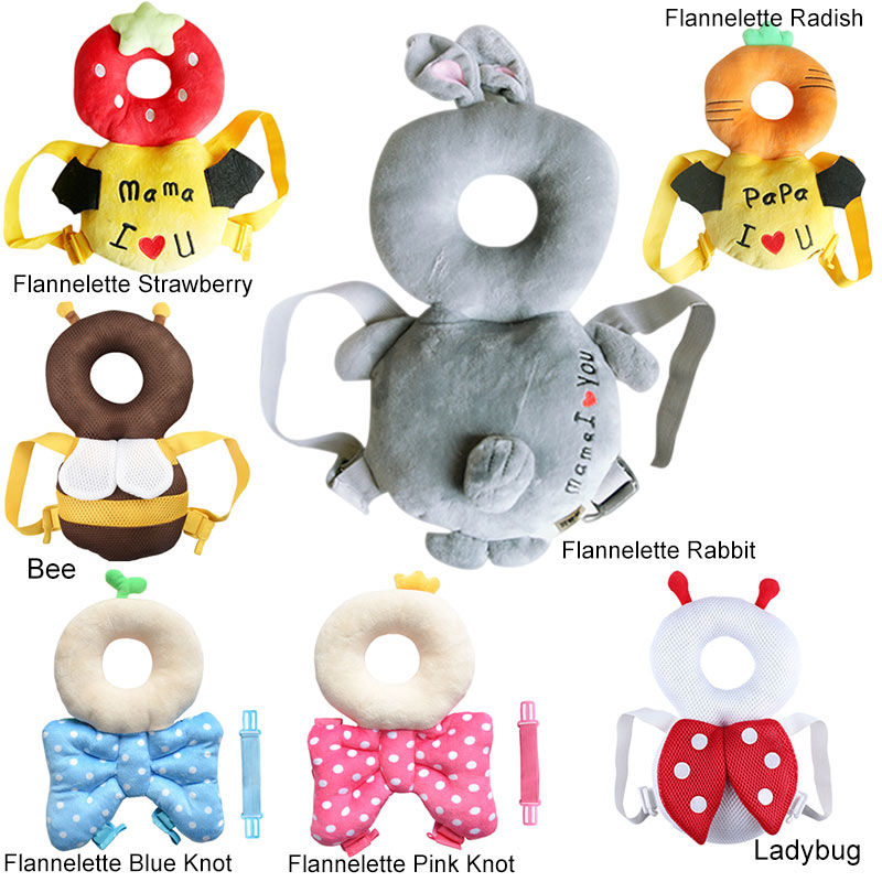 Baby Head Protective Pad Toddlers Pillow Cute Animal Infant Learning Walk Safety Cushion BM88 baby head protective pad cartoon animal toddlers pillow infant learning walk safety cushion fj88