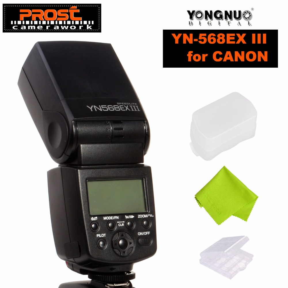 YONGNUO YN568EX III Wireless Flash Speedlite TTL Master Slave GN58 1/8000s High Speed Sync for Canon DSLR Camera yongnuo 2x yn 600ex rt 2 4g wireless hss 1 8000s master flash speedlite yn e3 rt flash trigger for canon eos camera
