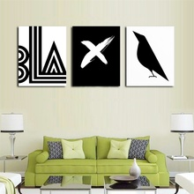 symbol Bird Pattern Nordic Art Home Decor Canvas Painting Wall Art Kids Bedroom Posters and Prints for Living Room Wall Painting nordic bird canvas art prints and posters monochrome canvas painting wall art picture for living room home decor