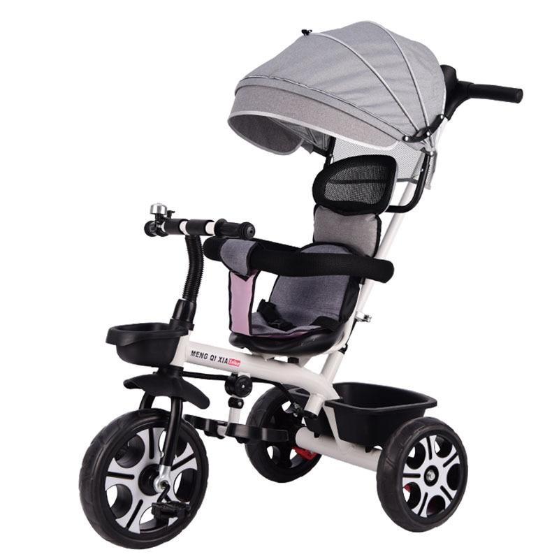 Tricycle pour enfants vélo 1-6 ans bébé poussette enfants vélo siège réglable trois roues poussette infantile poussette chaise chariot