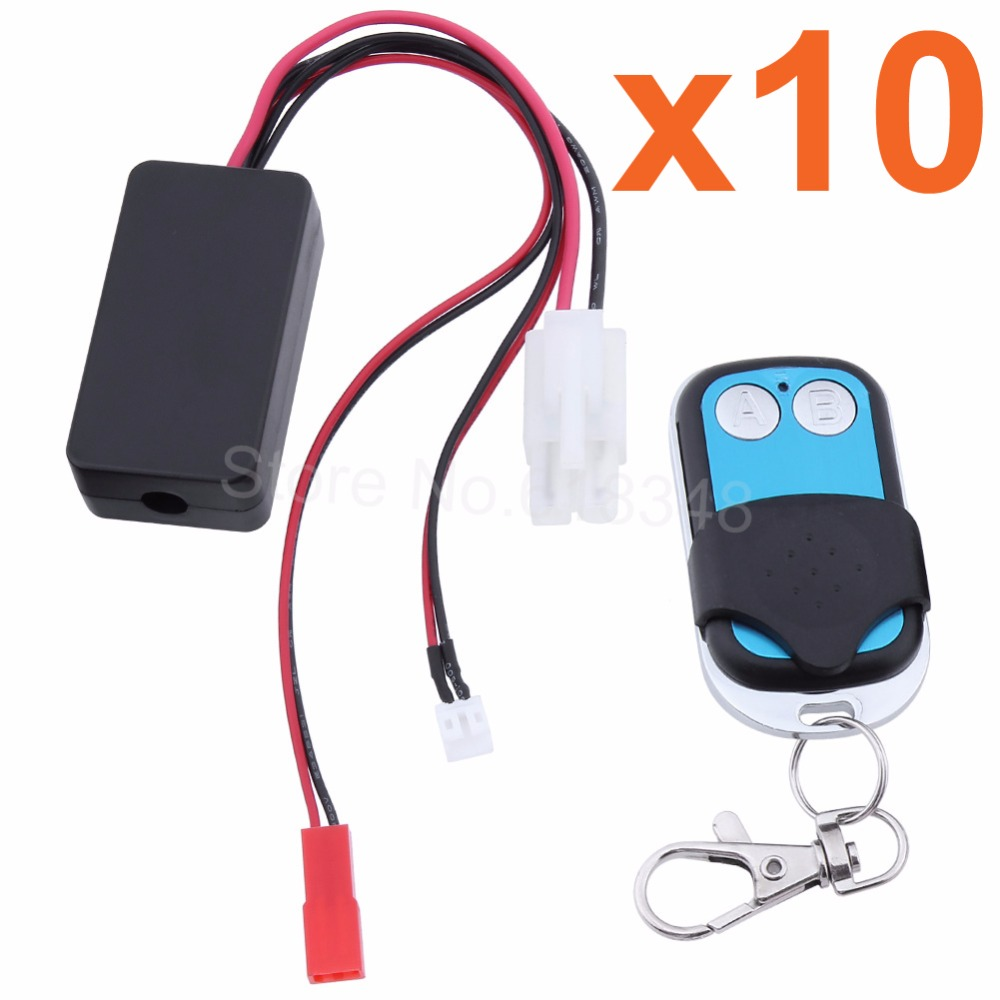 10x RC Rock Crawler Automatic Winch Wireless Remote Control & Receiver Set for 1:10 Axial SCX10 RC4WD D90 Climbing Car Parts