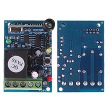 ホット433 mhz dc12v 1 controle remotoチャンネル学習コードワイヤレスリモートコントロールリレーモードuzaktan kumanda