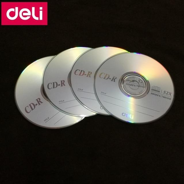 4 cái/lốc Deli 3725 CD-R Trống đĩa ghi nhỏ gọn đĩa 700 MB/80 min/52x CD-R TRỐNG Đĩa mảnh duy nhất
