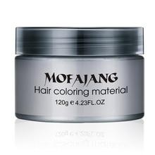 MOFAJANG Silver Ash Grandma Grey Hair Waxes Temporary Disposable Dye Coloring Mud Cream Salon Styling Pomade new