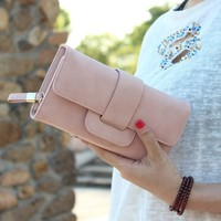Fashion Brand Purse Women Wallet Ladies Hasp Long Purse PU Leather Female Phone Clutch Wallet Coin