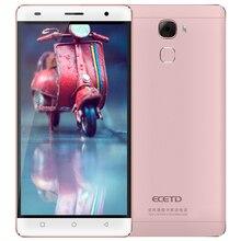 Chinois produit ECETD ET200 smartphone 5.5 pouces écran HD 4G LTE Bar Conception Dual SIM Cartes quad core Affichage résolution 1280*720