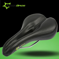 ROCKBROS Mountain Bike Saddle Mens Leather Bicycle Riding Front Seat Mat Customized Outdoor MTB Cycling Sports