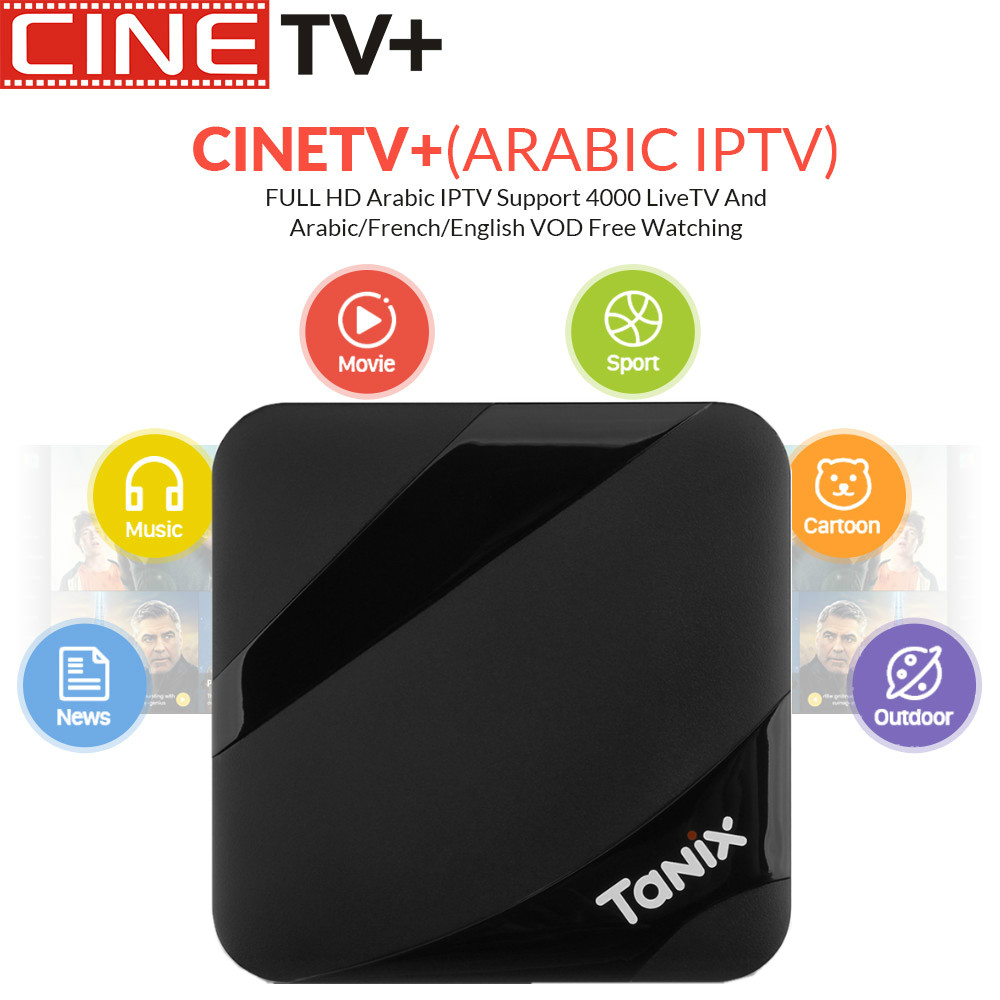 1 Year Cinetv with Tanix TX3 Max Android 7.1 IPTV Box 2/16g Arabic IPTV French IPTV 6000+Channels VOD Arabic/European/America/NL1 Year Cinetv with Tanix TX3 Max Android 7.1 IPTV Box 2/16g Arabic IPTV French IPTV 6000+Channels VOD Arabic/European/America/NL
