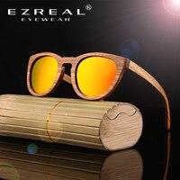 New Round Bamboo Sunglasses Men Wooden Sunglasses Polarized Women Brand Mirror Original Wood Sun Glasses Oculos