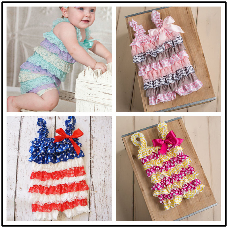 Baby Girl Rompers Summer Baby Rompers Baby Party Clothes Newborn Lace Ruffle Romper Toddler Girls Rompers Baby Brand Clothes