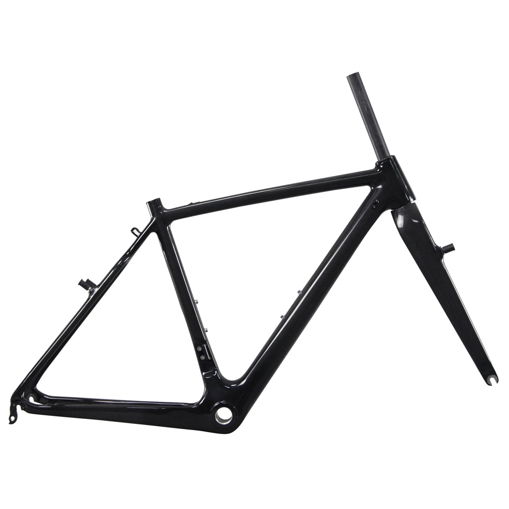 Big Discount ICAN Carbon Cyclocross Bike Frame V Brake Frameset Braze On FD With BSA Are Avaliable
