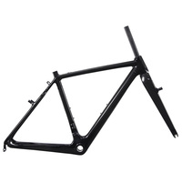 Big discount ICAN carbon cyclocross bike frame V brake frameset braze on FD with BSA/BB86/PF30&DI2 are all avaliable