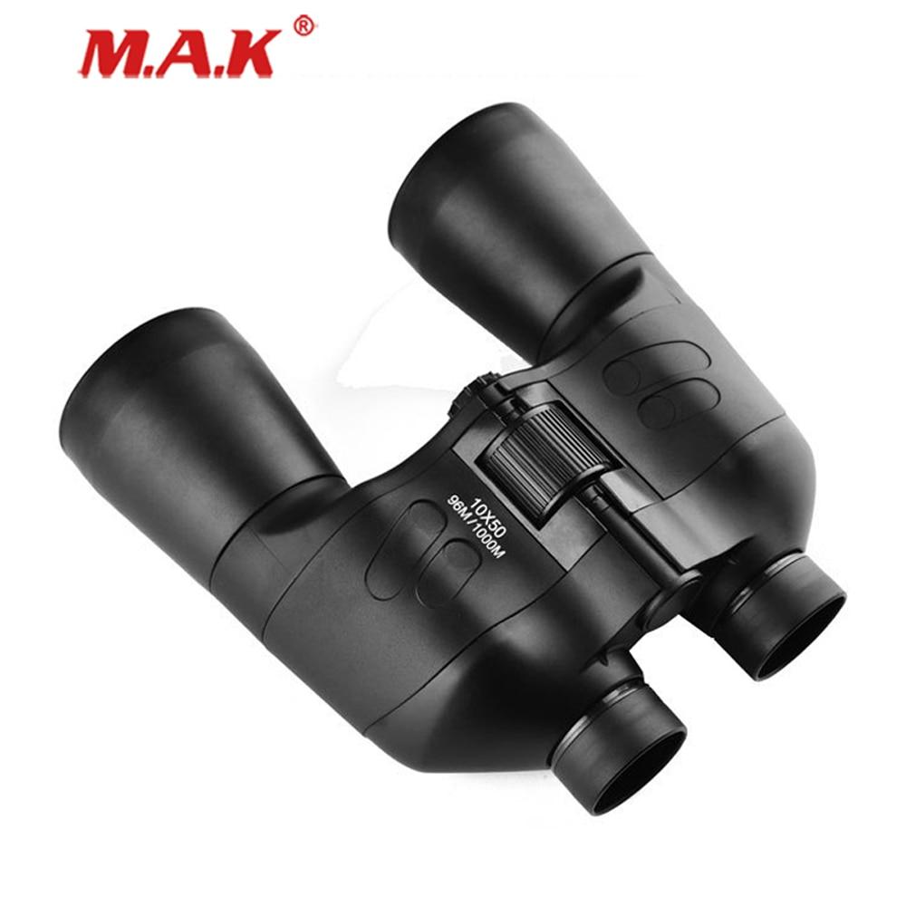 Télescope jumelles étanche HD 10X50 avec Zoom puissant et prisme BAK4 pour l'observation en plein air et la chasse au Camping