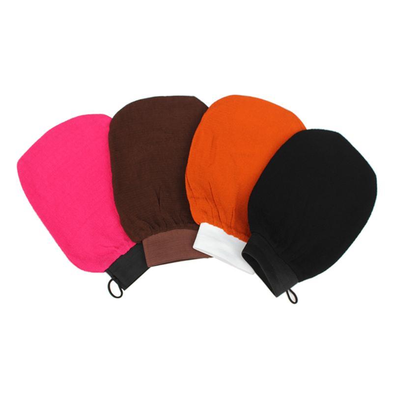 4pcs Bath Exfoliating Glove Scrubber Rayon Mitt Washcloths No Irritation For Bathing Random Colors