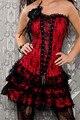 Новый стиль красный корсет шнурка платье, полное тело корсет, готический корсет платья M1605