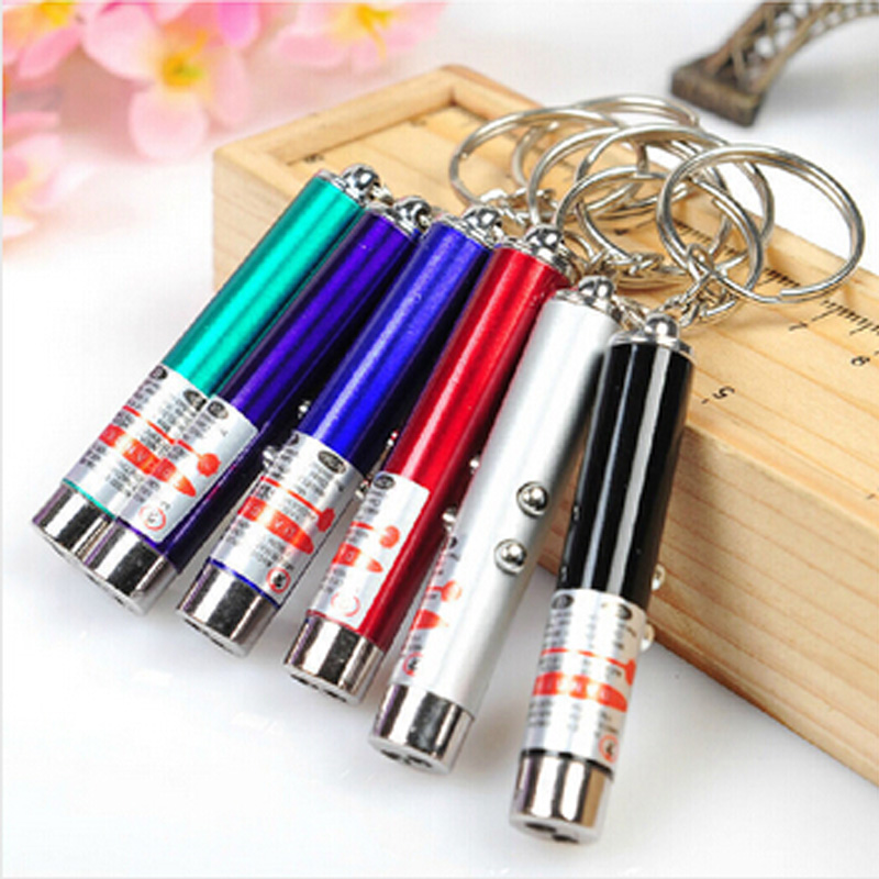 New Cool 2 In1 Red Laser Pointer Pen With White LED Light Show Funny Pet stick Childrens Cat Toy