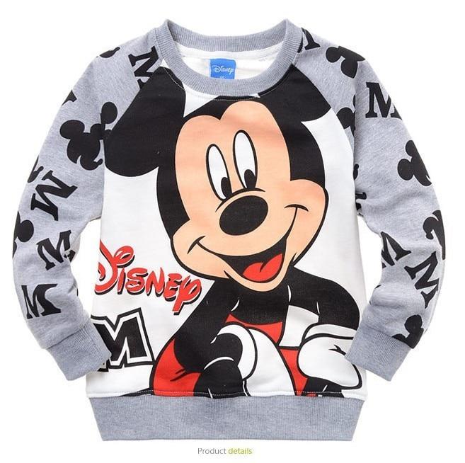 2014 New Boys Girls Mickey Minnie Mouse Cartoon Long Sleeve Crewneck