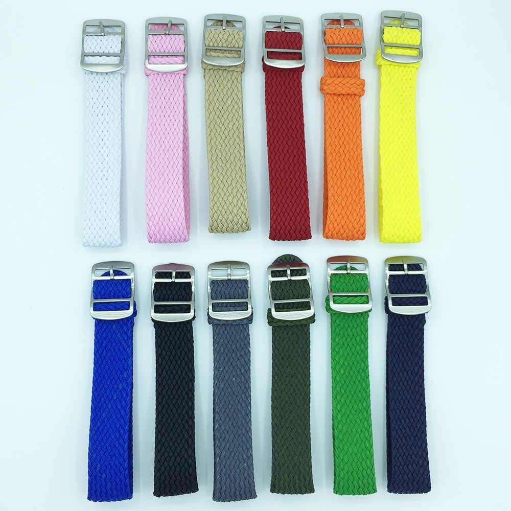 14mm 16mm 18mm 20mm 22mm ניילון רצועות perlon רצועות weave להקת שעון רצועת השעון עבור DW החלפת אביזרי כחול אדום orange