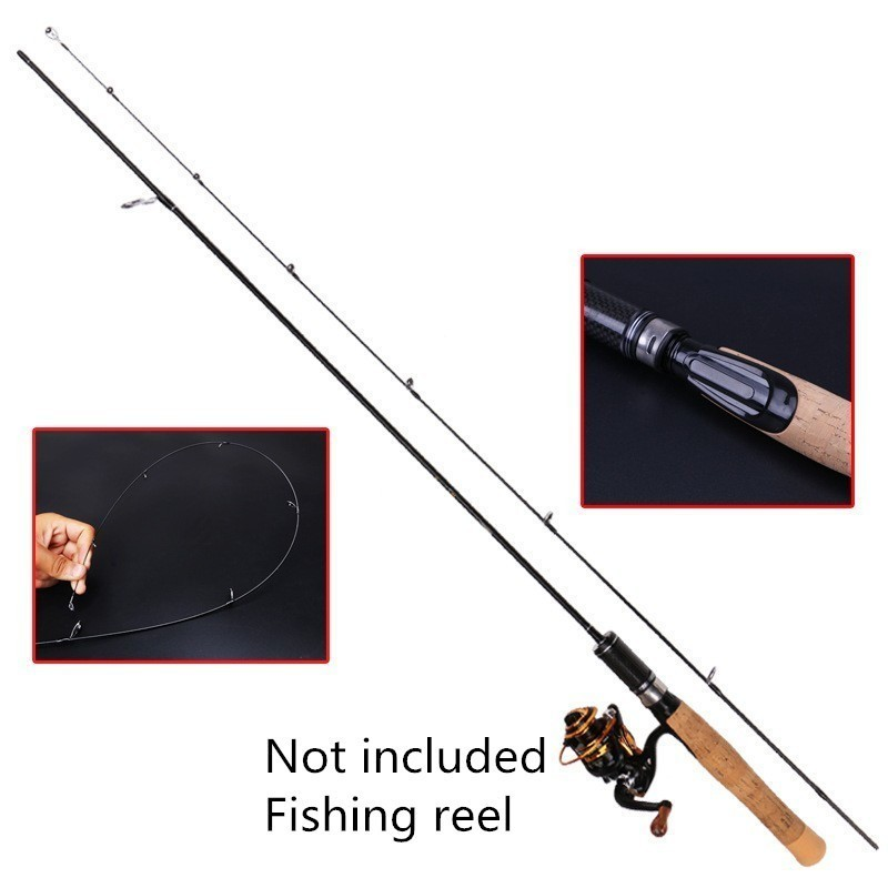 Image 3 - 2019 Newest UL Power Casting / Spinning Fishing Rods Soft Solid Carbon Spinning Lure Fishing Rod 1.8m 1.98m 1.68mFishing Rods   -