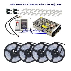 Image 5 - 5050 rgb sonho de cor 6803 led tira + ic 6803 rf controle remoto + adaptador de alimentação