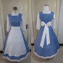 大人の王女のベルアニメコスプレ衣装ブルー色プラスサイズ衣装bellaメイドドレス女性のためのコスプレ