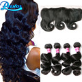 Ear To Ear Lace Frontal Closure With Bundles Loose Wave With Frontal Brazilian Hair Weave Bundles With Closure Lace Frontal