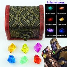Rękawica nieskończoności Thanos kamienie nieskończoności zestaw wszystkich 6 sztuk Gem akrylowe charms rekwizyty do cosplay biżuteria akcesoria zabawki New0101 tanie tanio Moda Brak Klasyczny mbbs0108 LUKENI