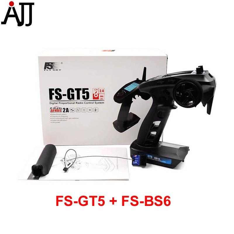 Flysky FS GT5 2.4G 6CH transmetteur gyroscopique avec récepteur BS6 intégré gyroscope sécurité intégrée pour RC voiture bateau télécommande FS-GT5