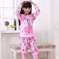 Low Price Palace Princess Style Children Pajama Sets Cotton Kids Pijamas Set 3 12Y Sleepwear Girls