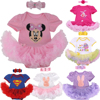2pcs Sets Batman Bebe Christmas Costumes For Kid Superman Lace Newborn Baby Romper Dress Headband Toddler