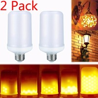 2017 New E12 SMD2835 Creative LED Lamp Flame Effect Fire Light Bulbs 7W Flickering Emulation Flame