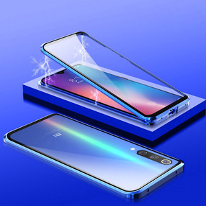 Image 4 - 360 Magnetic Adsorption Metal Case for Xiaomi mi 9 Transparent Shockproof Tempered Glass Cover for Xiaomi mi 9 se mi 9t Case