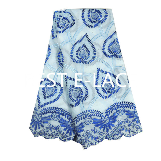 Latest African Dry Lace Cotton Fabrics Embroidered High Quality Nigerian  Swiss Voile Lace Fabric With Holes