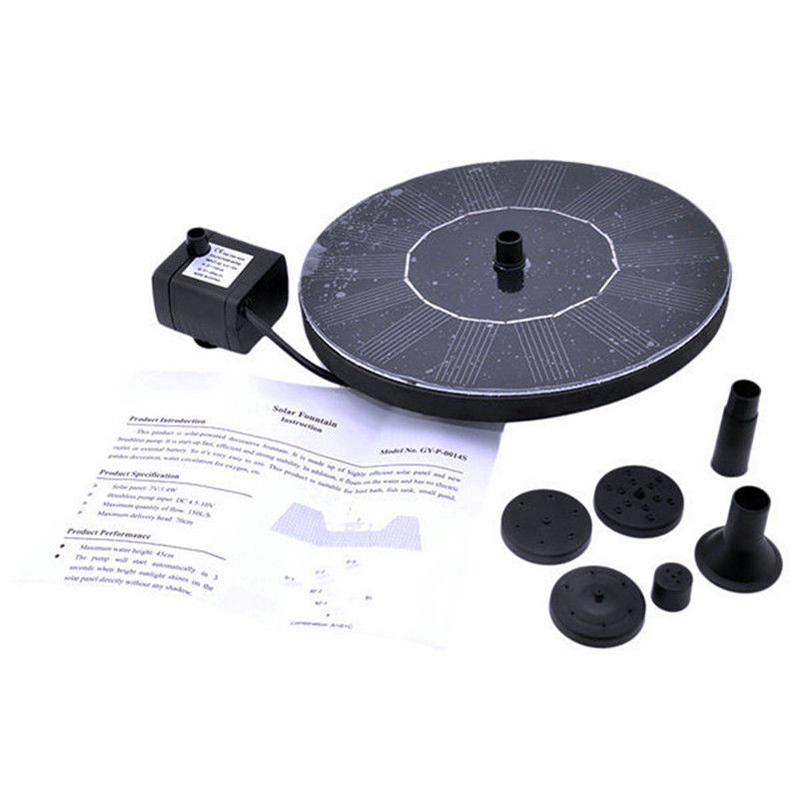 Image 5 - Water Floating Solar Powered Fountain Pump Solar Fountain Pump Brushless Bird Bath Fountain Pump Kit With Different Spray Heads-in Fountains & Bird Baths from Home & Garden