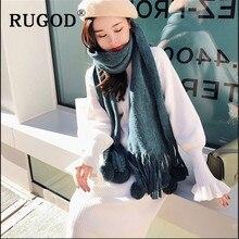 RUGOD Korean sweet knitted women sweater Fashion warm auturn winter midi straight ladies pullover dress Elegant round neck