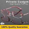 Gafas de lujo de las mujeres Rmless lente De corte de Diamante de alta calidad gafas de lectura Contra la fatiga de alta claro len vidrios ópticos 727
